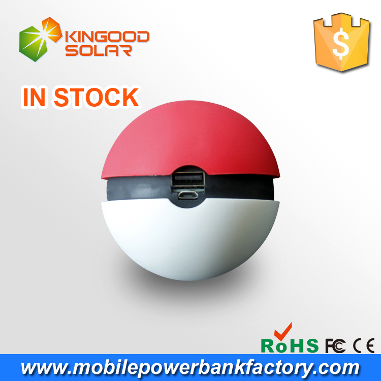 Hot selling good price universal portable rohs pokemon go power bank 2600mah gift