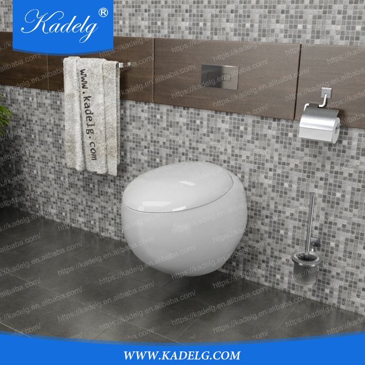 New Design Egg Shape Wall Hung Toilet Basin Combination