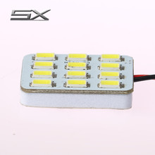 Sunshiny Car ceiling lamp LED display Panel lamp PCB dome 12SMD 5630chips