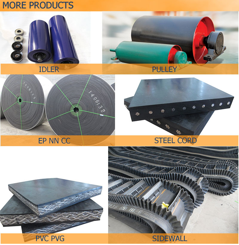 Acid and alkali resistant conveyor belt, chemical resistant rubber belt