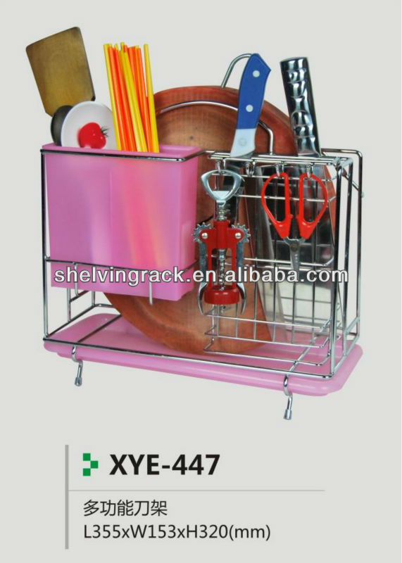 XYE-447 Carbon Steel Color Coating Kitchen Knife and Cutting Board Rack