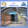 brick factory equipment large capacity tunnel oven
