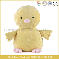 custom promotional squeaky plush yellow duck toy