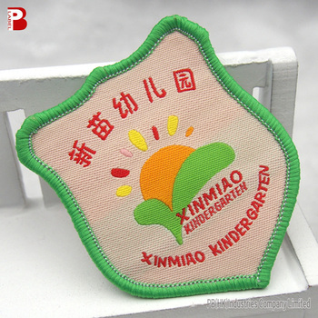 Cute fashion kindergarten woven patch