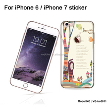 Factory price custom printing cell phone skin for apple iphone 7 plus epoxy skin