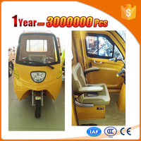 new energy enclosed cargo pedal trike for sale with 4 passenger seat