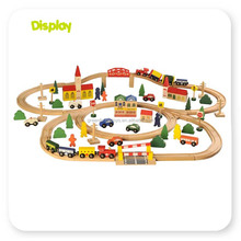 Wooden Kids Educational Building Blocks Train Sets toys