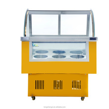 Hard ice cream counter refrigerators ice cream showcase
