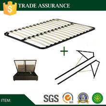 Storage bed frame with gas lift