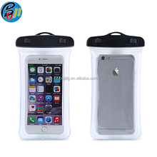 Hot selling in Amazon PVC Inflated waterproof phone bag pouch case for Iphone 6,7