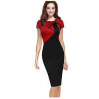 Hot sale 2017 New Fashion OL Women Office Dress Clothes Knee-length Bodycon Slim dress