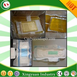 Top glue position for diaper sanitary napkin