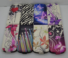New Fashion Butterfly Flower PU Leather Flip Case For Samsung Galaxy S3 Mini i8190