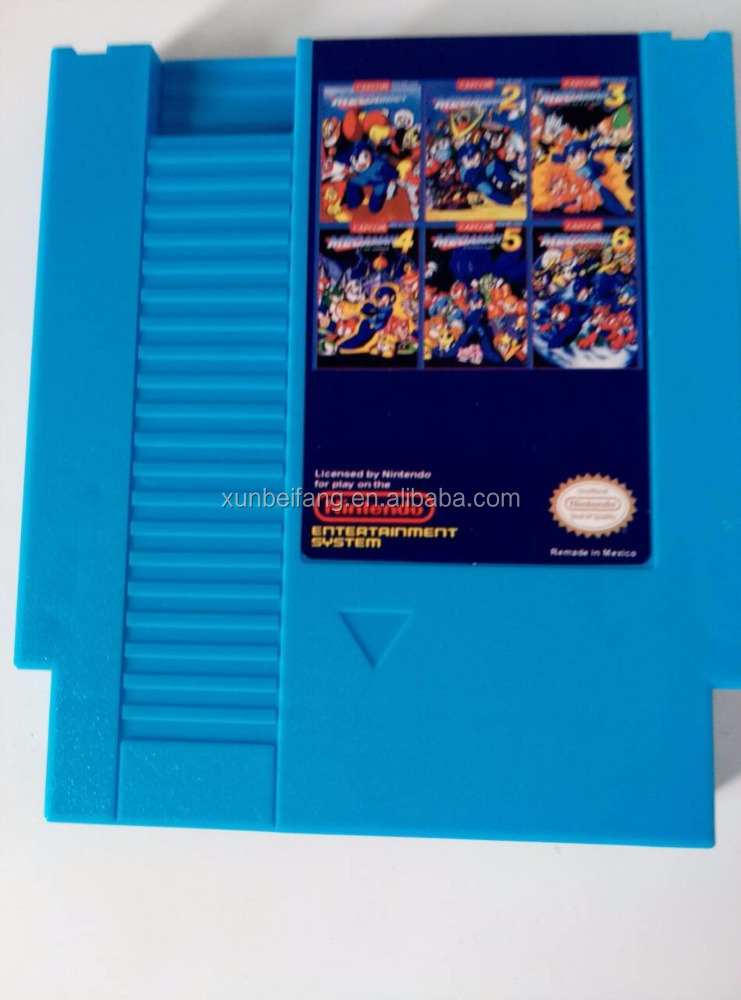 MegaMan1-6 RockMan1-6 73in1-NTSC&PAL Games, 72 Pins NES Game Cartridge Replacement Shell, Free Dust Sleeve