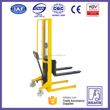 Straddle legs hydraulic manual forklift manual pallet stacker price