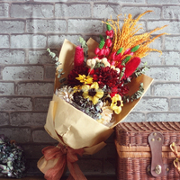 dry natural yulan magnolia sunflower artifical flower craft bunch