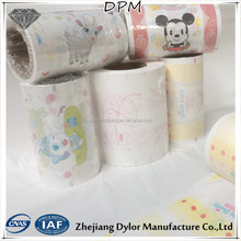 Colorful flexographic printing breathable pe stretch film