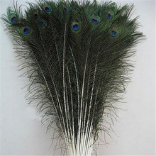 Wholesale 90-100cm artificial peacock feather for party decoration