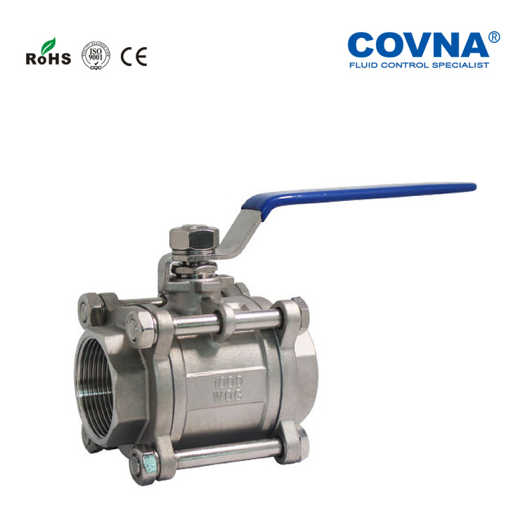 3PC Stainless steel ball valve cf8m 1000 wog stainless steel ball valve stainless steel 316 ball valve with high quality