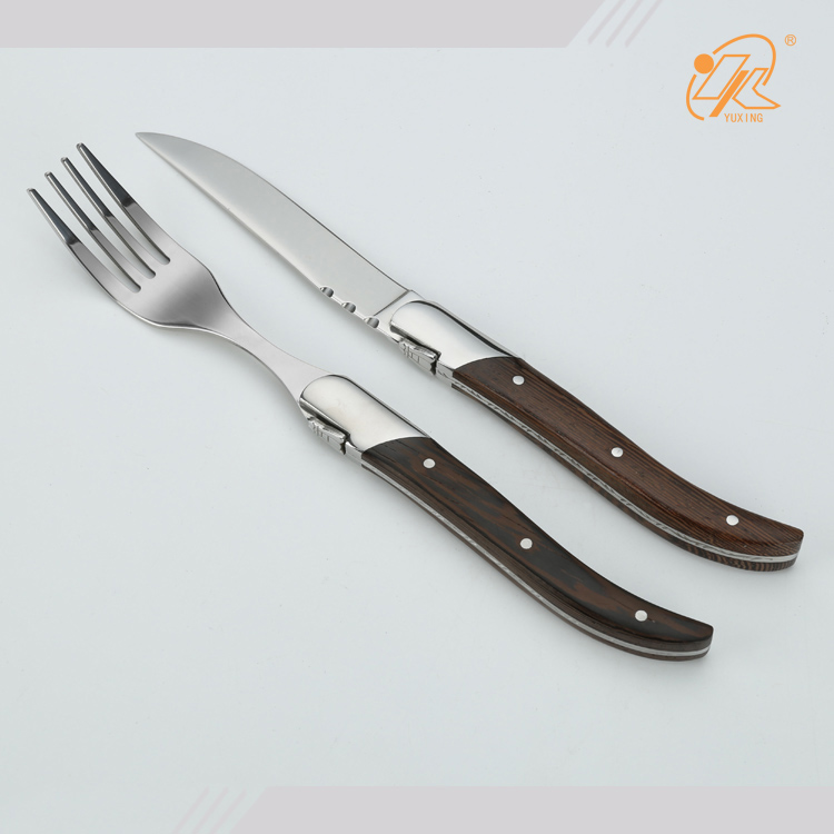 Laguiole steak knives with wood handles