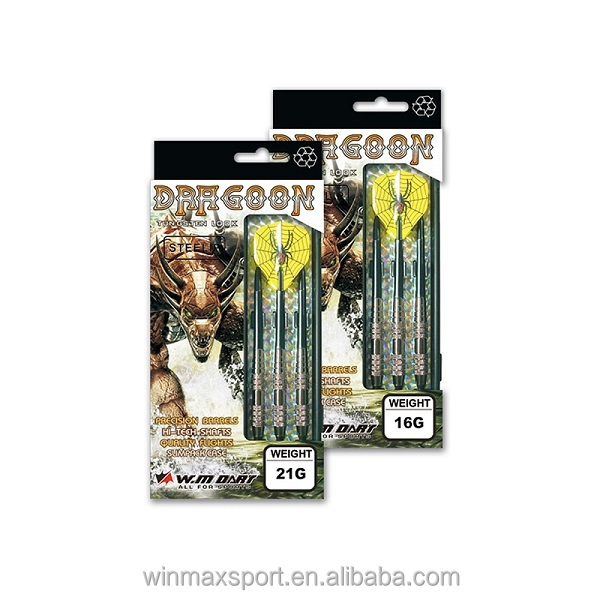 wholesale 23G Dragon tungsten look barrel dart set with shafts