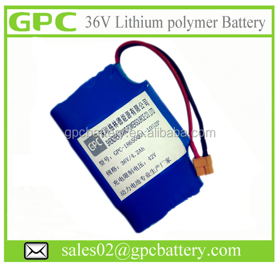 Electric Vehicle Battery 36V 42V 4.2AH 10S2P li ion battery pack for self-balancing electronic scooter battery pack