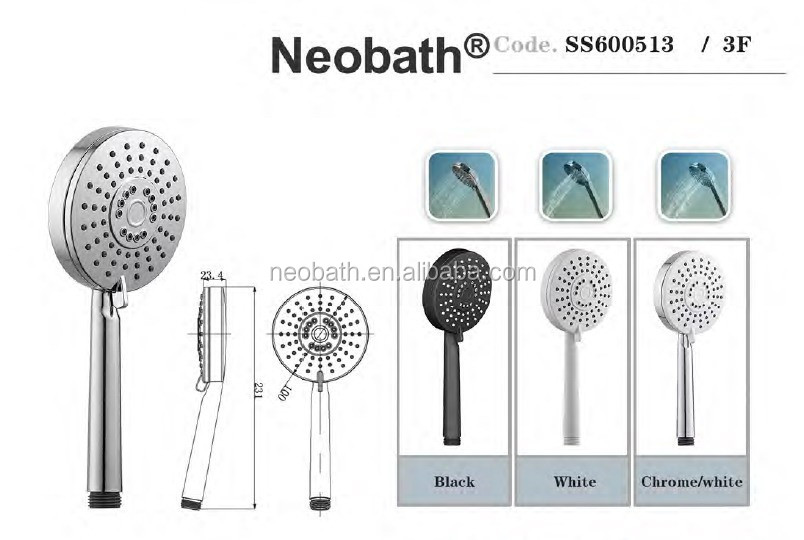 Multiple Function Sanitary Ware for Bathroom Hand Shower Head