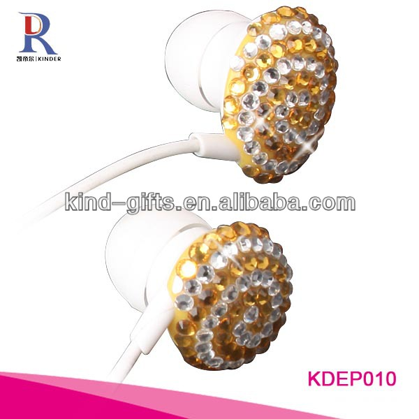 Jeweled Earbud Headphones