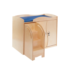 Baby Daycare Furniture Wooden Changing Table with Storage