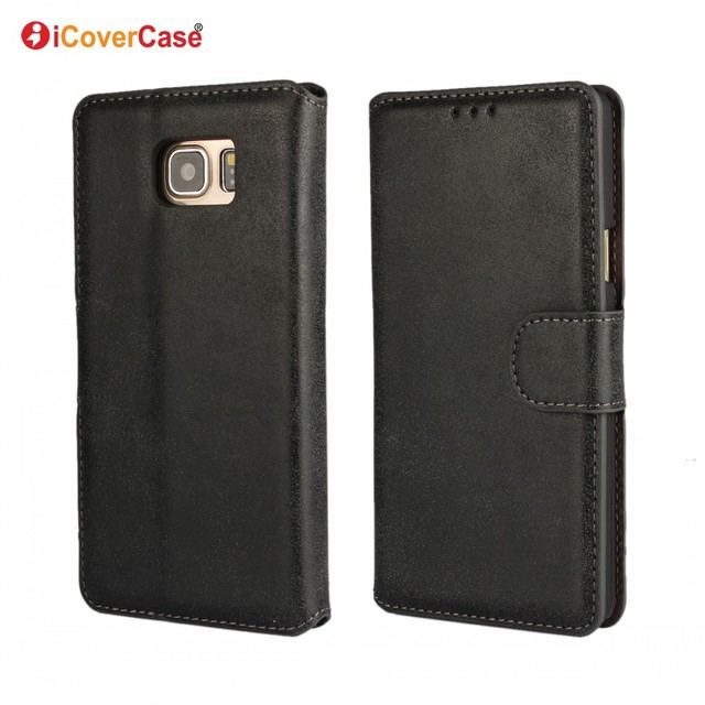 Mobile Phone Accessories Bag Vintage Matte PU Leather Cover Flip Wallet Case for Samsung Galaxy Note 5 Carcasas Etui Fundas