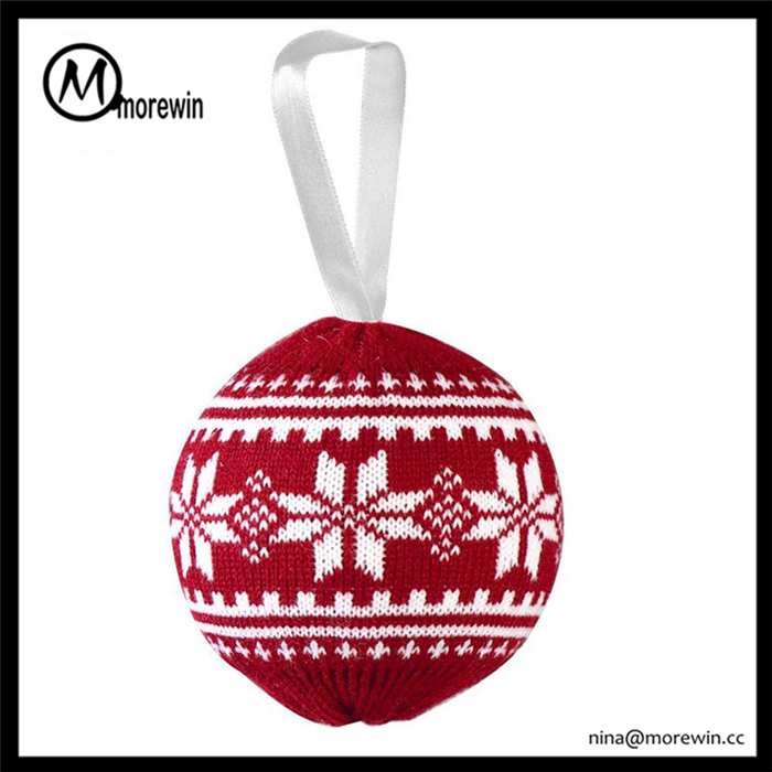 Morewin Knitting Christmas Tree Ball with Logo christmas decoration special New year gifts Christmas Ball