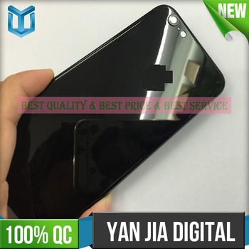 Matte finish real jet black back housing for iphone 6 like 7 luxury replacement back cover