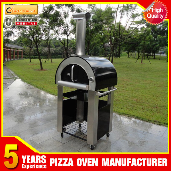 Outdoor backyard residential wood fired brick pizza ovens