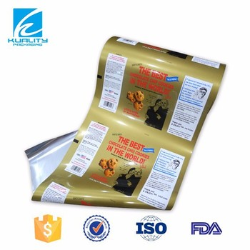 Laminating film flexible plastic packaging for snack with gravure printing