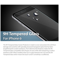 1PCS Best Quality 0.26mm 2.5D LCD Clear Tempered Glass Screen Protector For iPhone 6