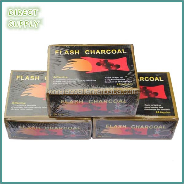 briquette wood charcoal for hookah and incense