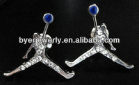 2014 fashion jewelry michael jordan earrings for men