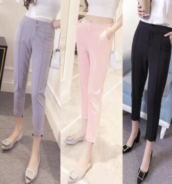 zm20317a china factory cotton trousers new design for woman clothes lady pants