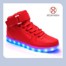 Moda Led Par Luces de Carga Usb Ocio Zapatos Planos Zapatos Femeninos Botines High Top