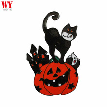2017 Halloween black Cat with Pumpkin Window decoration ghost Sticker WYH-03094