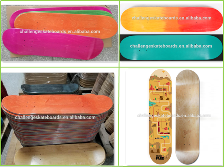 skate board Canadian maple blank skateboard deck wholesale