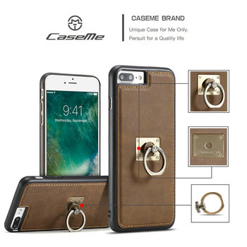 2017 Accessories Cell Phone Case for iPhone 7, CaseMe Ring Leather Case for iPhone 7 plus, for iPhone 7 plus Case Unlock 128gb