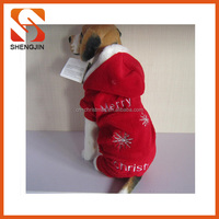 SJ-L6042 Wholesale plush pet clothes merry christmas embroidery dog winter coats