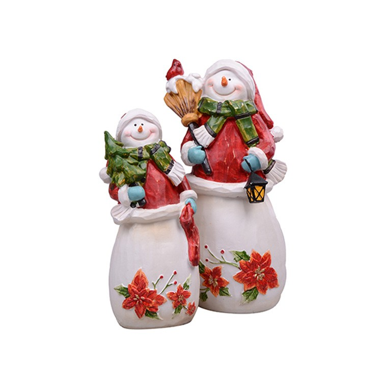 Hot sale cheap <strong>christmas</strong> ornaments nice unique cute Snowman Figurine for store decorations