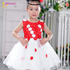 top quality white and red color girls lace dresses clothing gowns and dresses