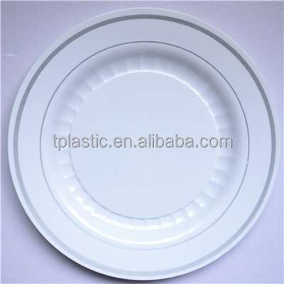 PS plastic plate with hot stamp change plate for one use disposable plastic plates