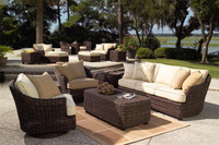 High end elegant royal garden art lounge furniture wicker outdoor classic sofa set italian