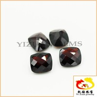 Polishing Cushion Cut Checkerboard Natural Red Garnet Gemstone
