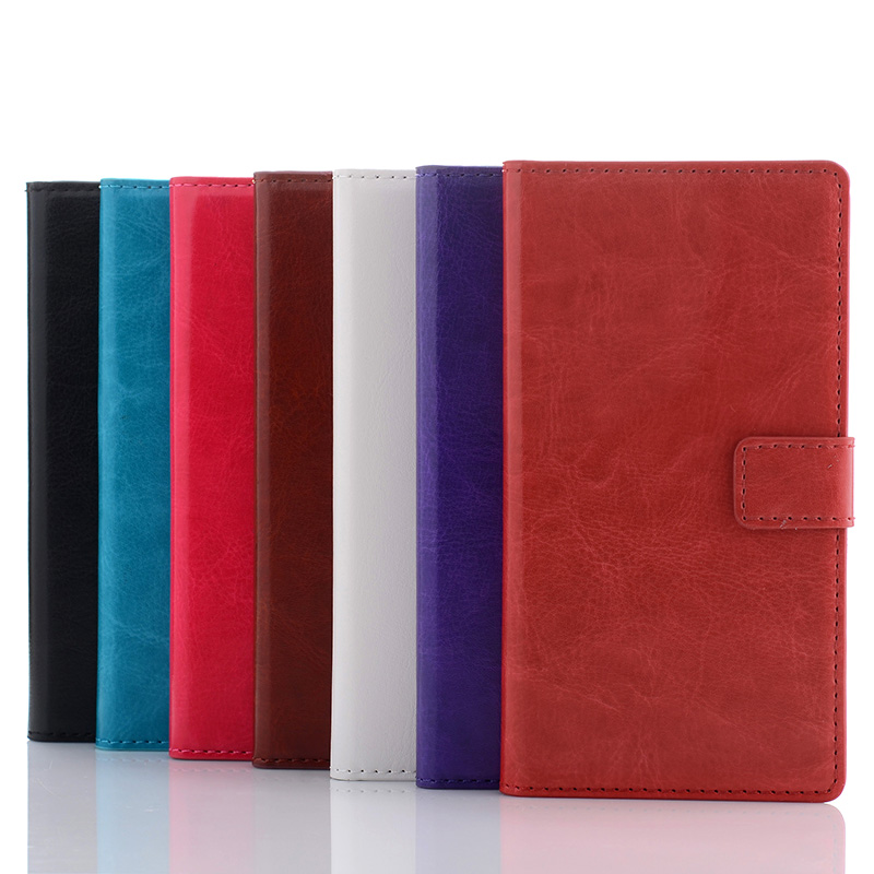Leather case For Sony xperia Z2, Card slot wallet leather stand black TPU cover phone case