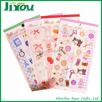 2 sheets per set cute decorative die cut stickers